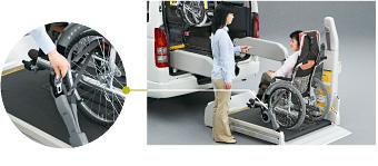 3点式シートベルトがリフト上で装着可能!